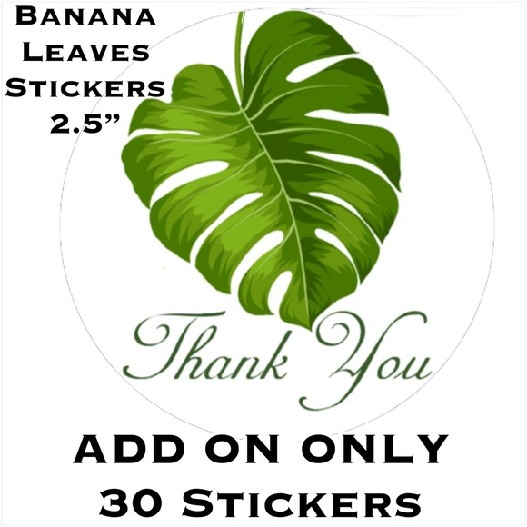 "Other - 30 2.5"" Banana Leaves Stickers PRICE IS FIRM"